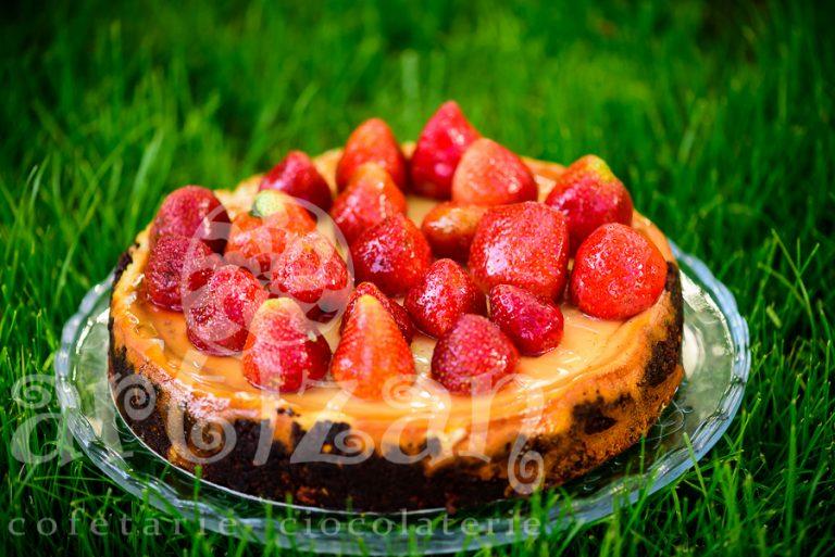 Cheesecake cu căpșuni 1