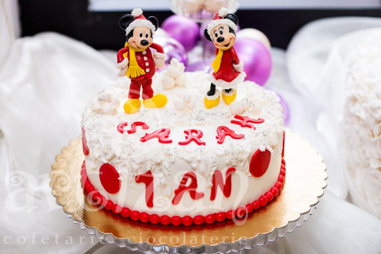Tort cu Mickey și Minnie