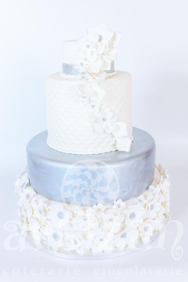 """Tort de nunta """"Silver"""""""