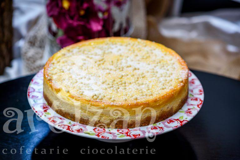 Cheesecake cu lamaie si cocos
