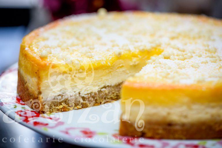 Cheesecake cu lamaie si cocos 1