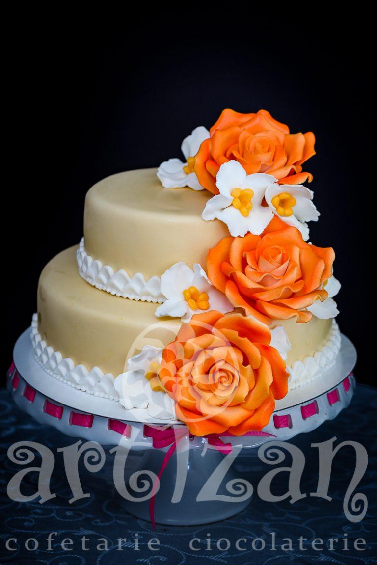 """Tort """"Orange Rose"""" 1"""