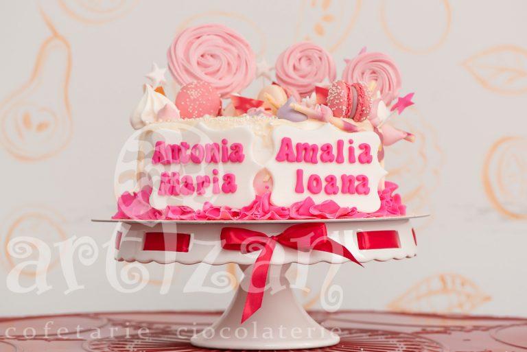 "Tort de Botez ""Antonia & Amalia"""