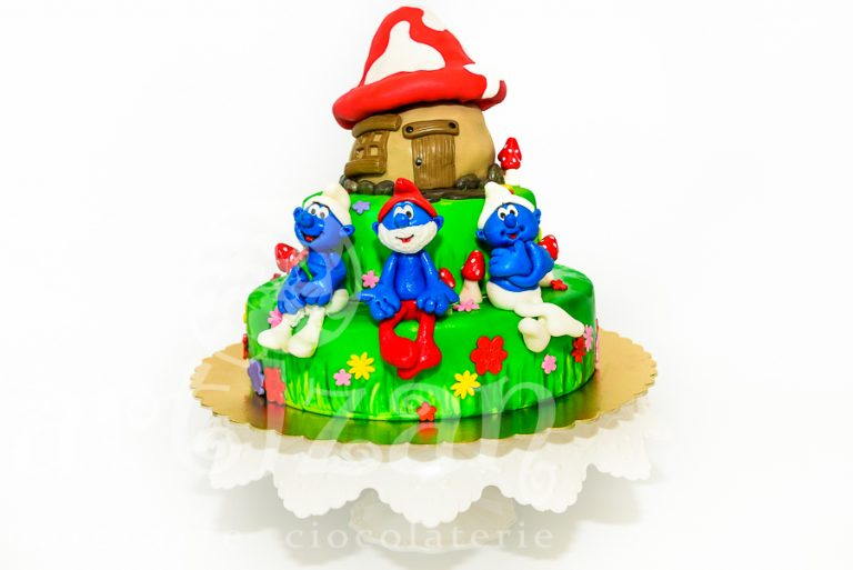"Tort de Botez – ""The Smurfs"""