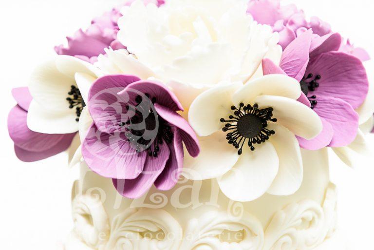 """Tort de nunta """"Purple Romance"""" 1"""