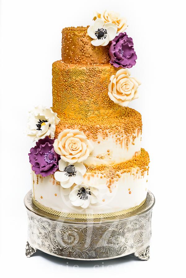 "Tort de nunta – ""Golden Sparkle"""