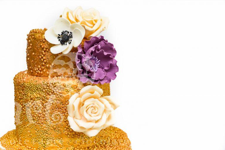 "Tort de nunta – ""Golden Sparkle"" 1"