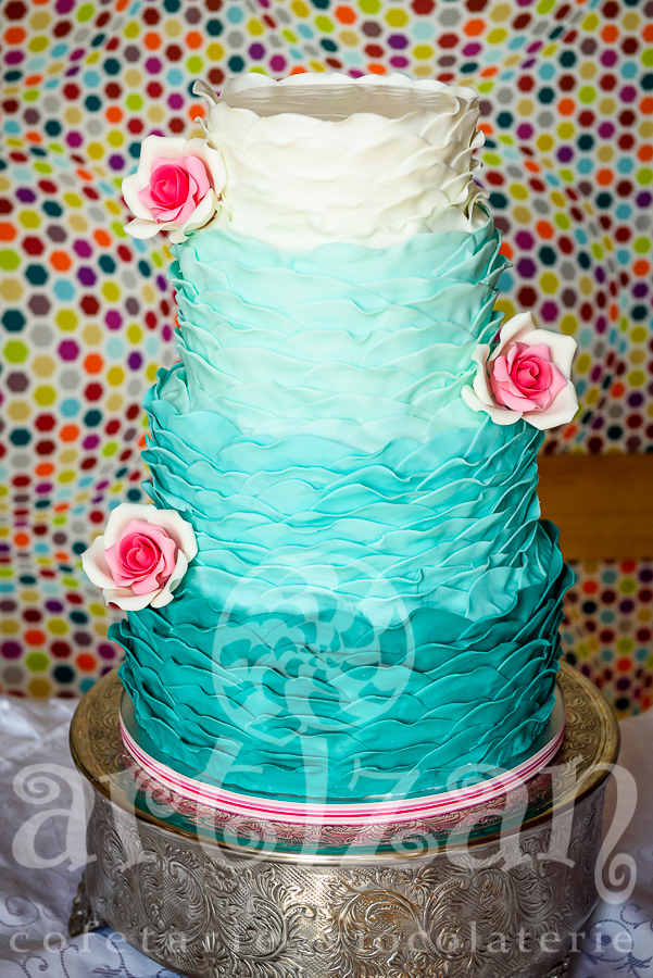 """Tort de nunta """"Aqua-Marine"""""""