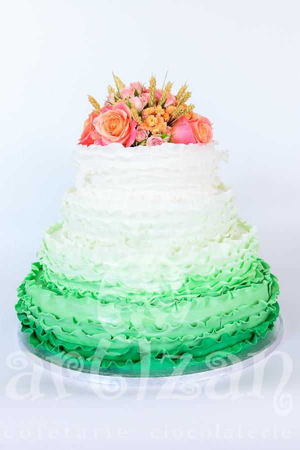 """Tort de nunta """"Summer Green"""""""