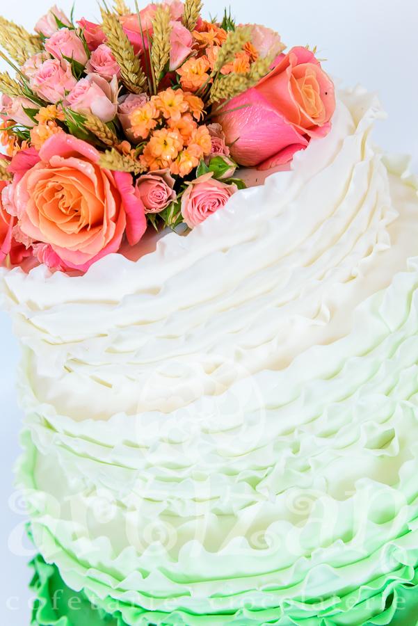 """Tort de nunta """"Summer Green"""" 1"""