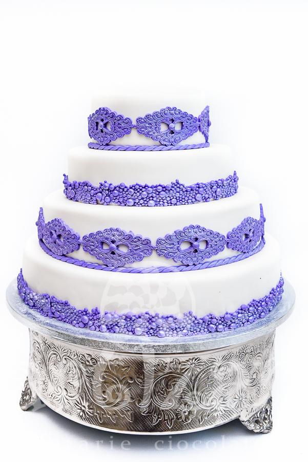 "Tort de nunta ""Liliac"" 1"
