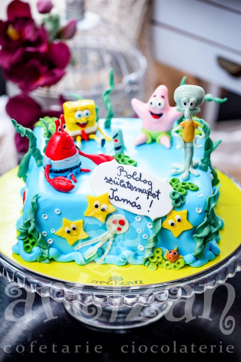 "Tort Aniversar ""Sponge Bob"" 1"