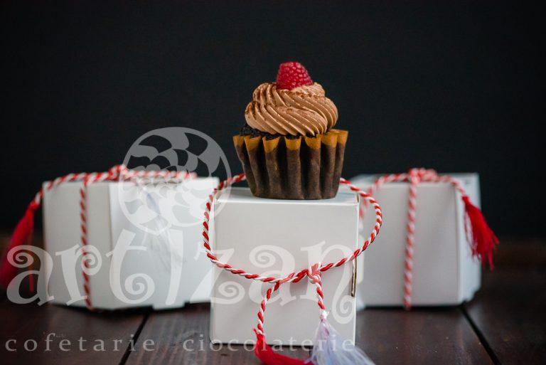 Briose de ciocolata cu zmeura – Editie de Martisor