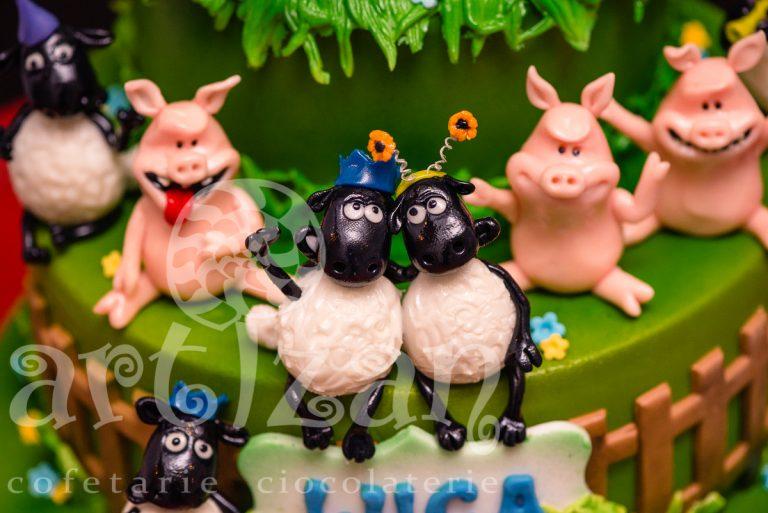 "Tort Aniversar ""Shaun the sheep"" 1"