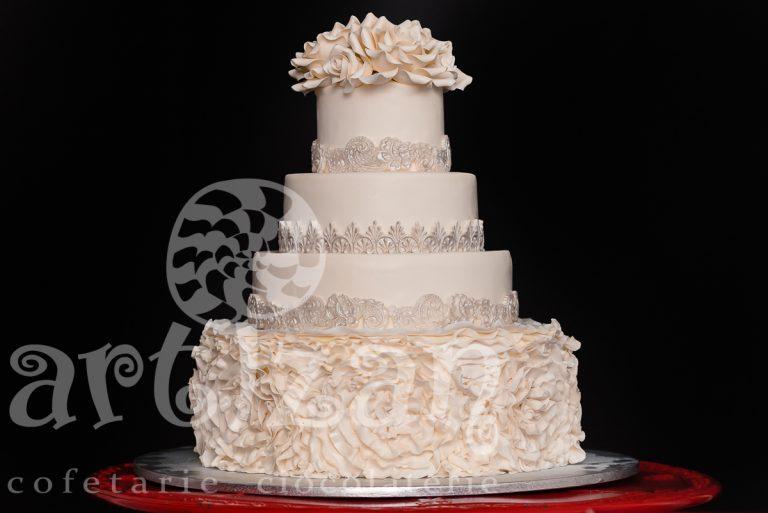 "Tort de nunta ""Ruffle"""