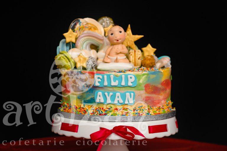 """Tort de Botez """"Filip Ayan"""" 1"""